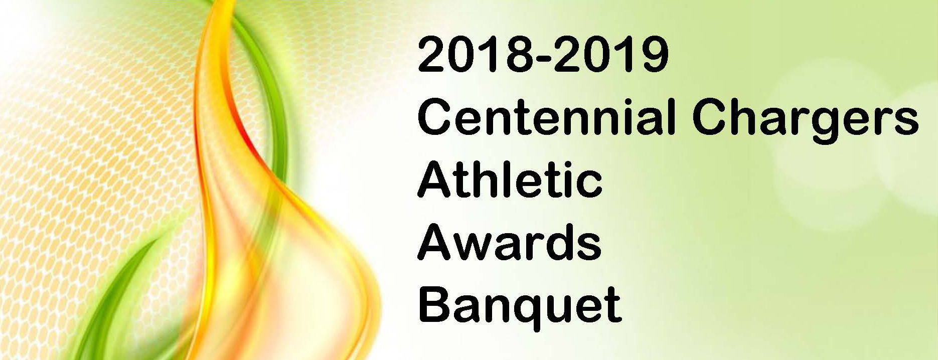 Athletic Awards Banner