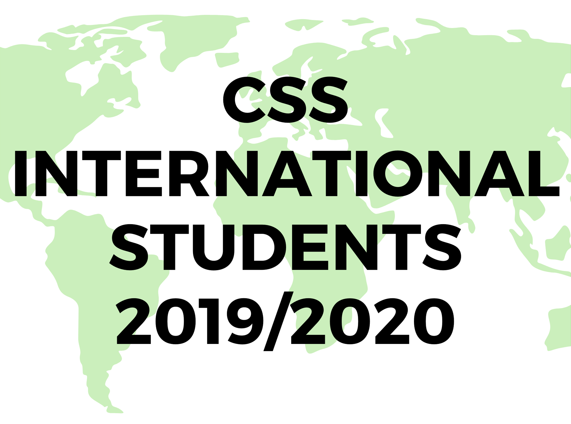 CSS International Students 2019 2020