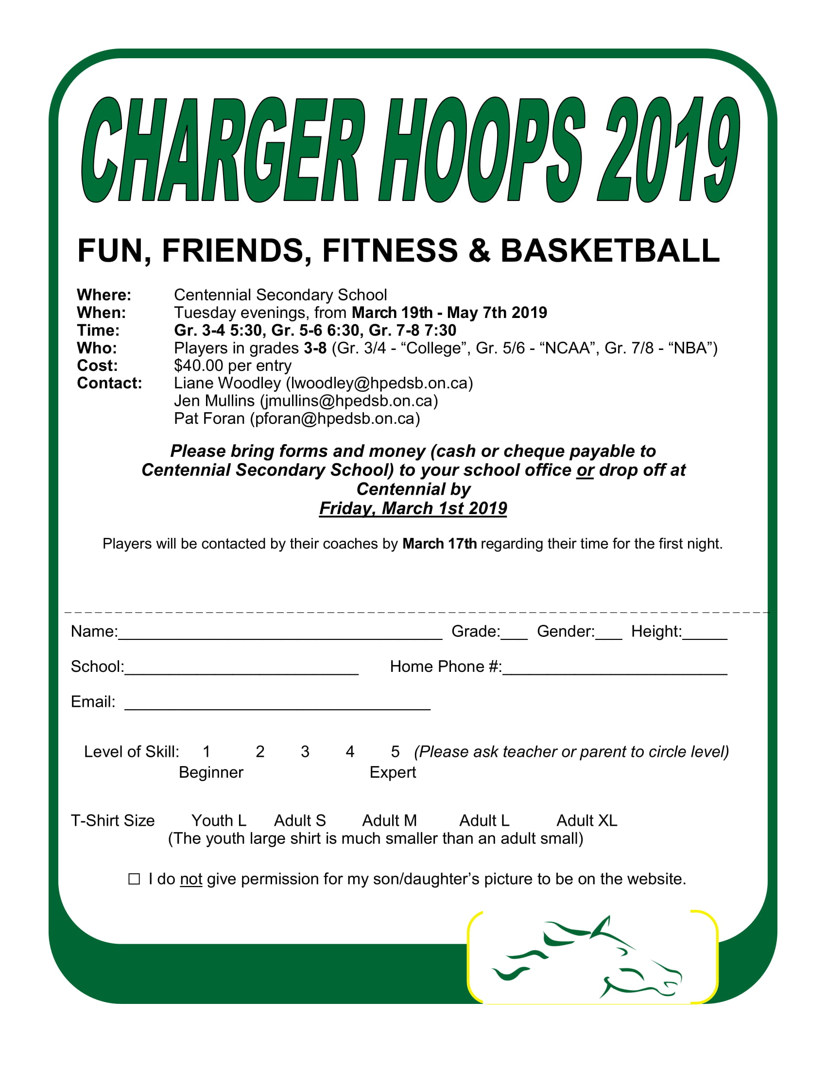 Charger Hoops Permission Form 2019 1