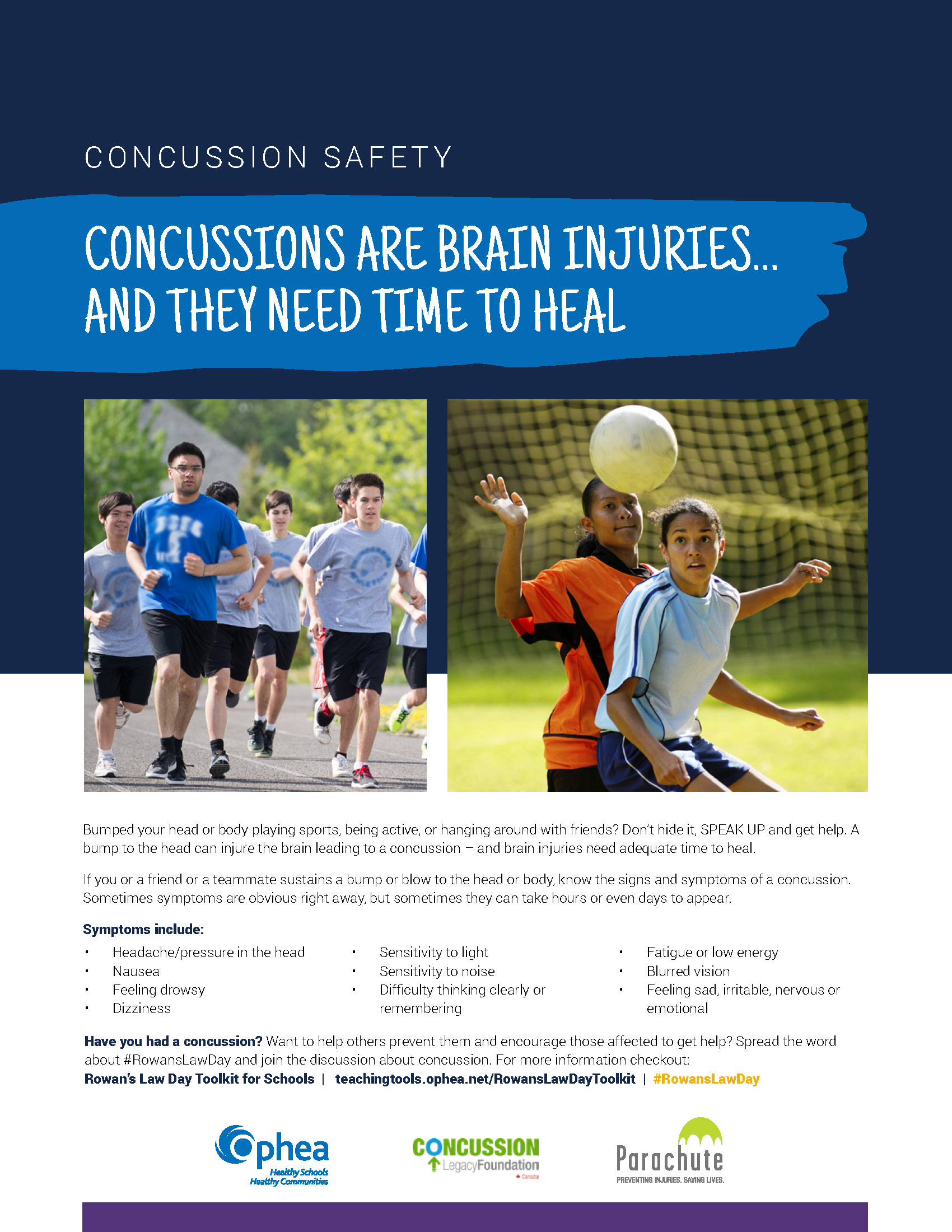 Concussion Awareness Info Poster