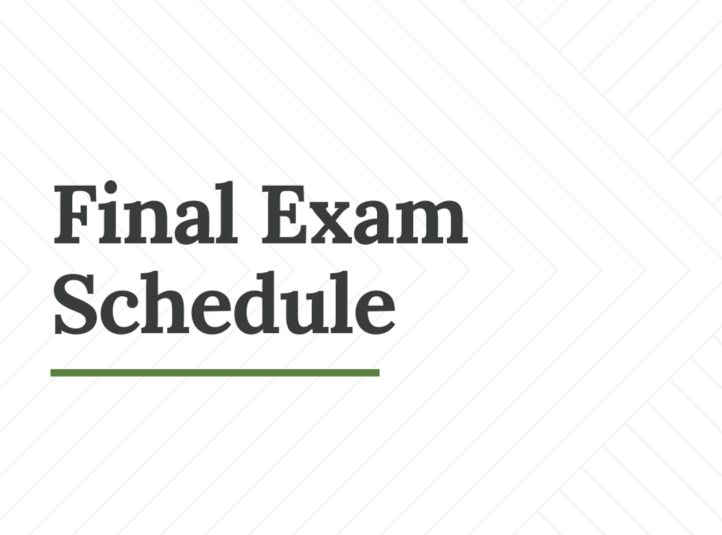 Exam Schedule Tile 2020