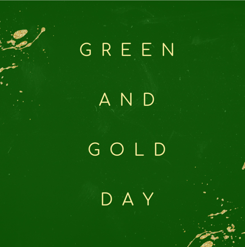 Spirit Day Green and Gold 2