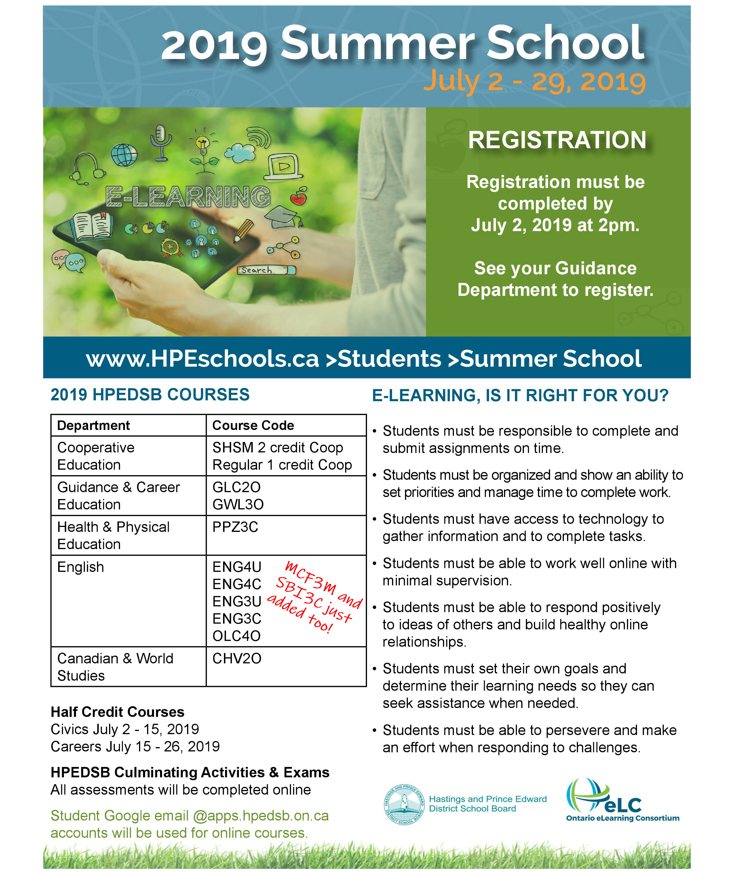 Summer School Flyer Pg 1 Updated