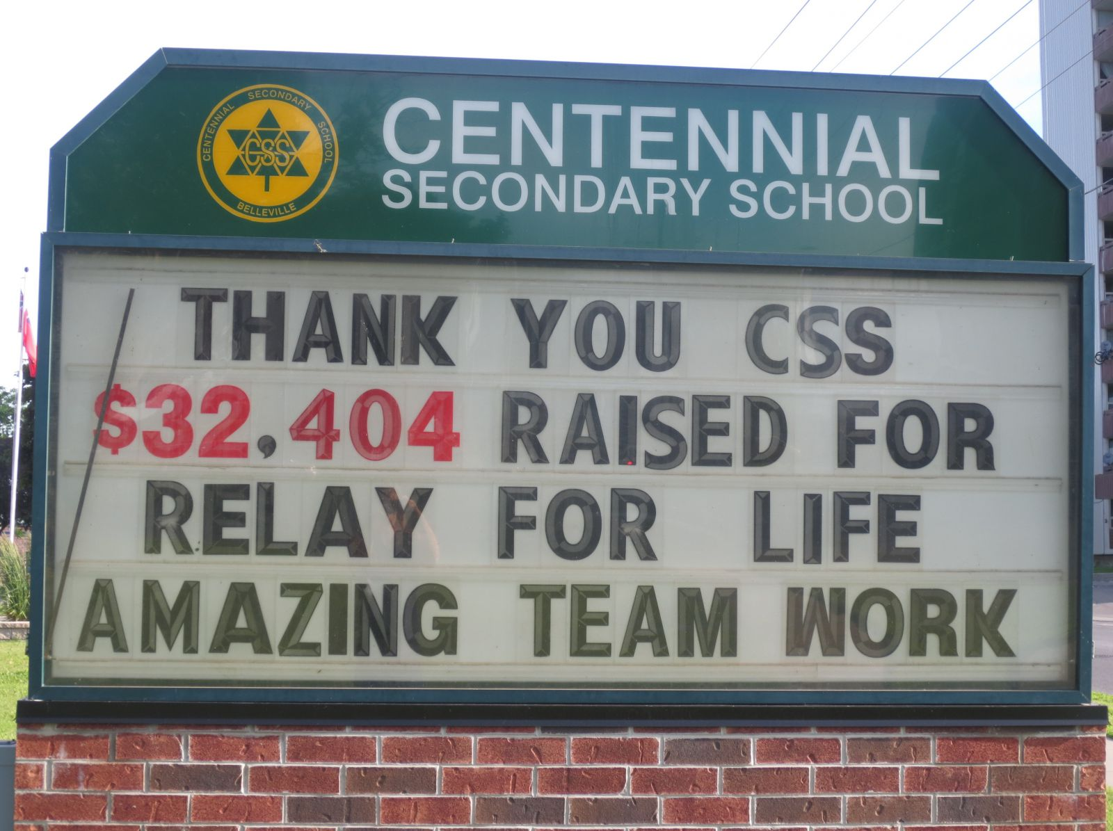 relay for life outdoor sign